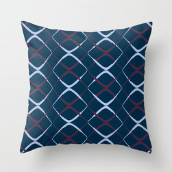 "Archie Berry Blue Accent Throw Pillow - 16 x 16"" $20"