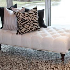 Traditional Footstools And Ottomans by Sheila's Window Toppers & More Ltd