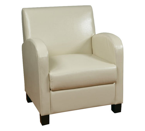 Office Star - Office Star Metro Eco Leather Club Chair in Cream - Office Star - Club Chairs - MET807RCM -