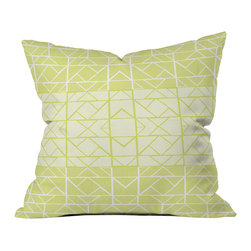 Gneural Shifting Pyramids Lemon Outdoor Throw Pillow - Do you hear that noise? it's your outdoor area begging for a facelift and what better way to turn up the chic than with our outdoor throw pillow collection? Made from water and mildew proof woven polyester, our indoor/outdoor throw pillow is the perfect way to add some vibrance and character to your boring outdoor furniture while giving the rain a run for its money.