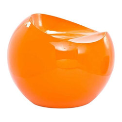 Modway - Plop Stool in Orange - Fun and modern the Plop Stool makes its appearance as if out of nowhere. Its surprising downward flow makes it a ready piece capable of conveying vast originality to your decor. Formed from strong and durable ABS plastic polished in high gloss enamel, taste a notion of something different while experiencing a piece beyond particulars.