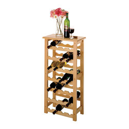Winsome - 28-Bottle Wine Rack - Holding 28 bottles without taking up much floor space, this wine rack is perfect for those trying to conserve space. Its simple, clean design will fit in anywhere.