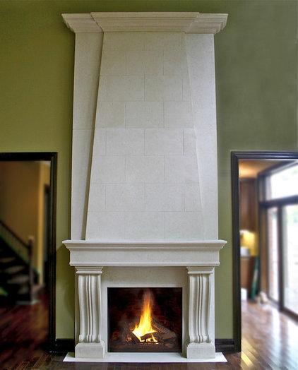 Traditional Fireplace Mantels by Dekko Concrete Decor