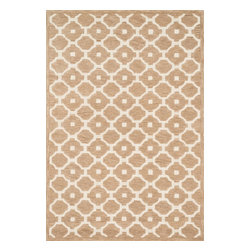 """Loloi Rugs - Loloi Rugs Brighton Collection - Beige, 9'-3"""" x 13' - There are geometric rugs and then there is the striking Brighton Collection, which sets a new standard for geometric style. Hand-tufted in India, 100% wool yarns are hand-dipped into rich dye lots, producing lively colors that pair fabulously with its playful patterns. Brighton also combines a cut and loop pile, creating a mix of heights and textures for added visual interest. Available in 12 playful designs."""