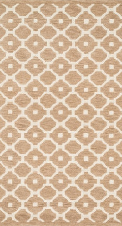 """Loloi Rugs - Loloi Rugs Brighton Collection - Beige, 5'-0"""" x 7'-6"""" - There are geometric rugs and then there is the striking Brighton Collection, which sets a new standard for geometric style. Hand-tufted in India, 100% wool yarns are hand-dipped into rich dye lots, producing lively colors that pair fabulously with its playful patterns. Brighton also combines a cut and loop pile, creating a mix of heights and textures for added visual interest. Available in 12 playful designs."""