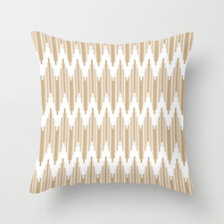 High Frequency Pillow Cover in Cocoa - Liven up the sofa with this sharp chevron pillow cover reminiscent of ikat weaving. Full of energy in a bright summer color, it complements a variety of styles to fit right into your living room.