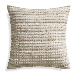 Huey Pillow - I adore the texture of this pillow. It almost gives a homemade feel to a polished design.