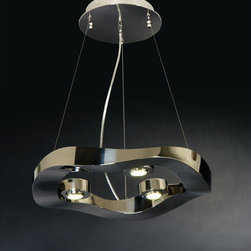Trend Lighting - Trend Lighting TP9603 Halo 3 Light Pendants in Polished Stainless Steel - Halo Small Pendant