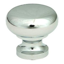Q.M.I. - Round Knob in Polished Chrome (Set of 10) - Includes mounting screws. Decorative. Easy to install. Limited lifetime warranty. Made from zinc. 1.25 in. Dia. x 1 in. HAdd the finishing touches to your new vanity or cabinets or instantly update the look of your room with this hardware. Our cabinet knobs beautifully compliment any homes decor.
