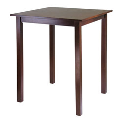 Winsome - Winsome Parkland High/Pub Square Table in Antique Walnut Finish - Winsome - Pub Tables - 94134 - Sometimes simplicity speaks volumes and with the Parkland High Table it comes on loud and clear. A rich and warm walnut finish lends itself to a cozy invitation to pull up a chair and relax for awhile. The size is ideal for seating up to four discerning individuals and will look fantastic in a kitchen or small dining area