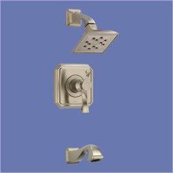 Brizo - Brizo - Virage: Tempassure Thermostatic Tub And Shower Trim -T60430-BN - Brushed Nickel Finish
