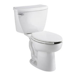 American Standard - Cadet Right Height Pressure Assisted Elongated Two-Piece Toilet in White - American Standard 2467.016.020 Cadet Right Height Pressure Assisted Elongated Two-Piece Toilet in White.
