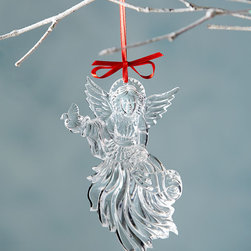 """Waterford - 2014 Annual Angel Christmas Ornament - Waterford2014 Annual Angel Christmas OrnamentDetailsMade of lead crystal.4.5""""T.Imported.Designer About Waterford Crystal:Established in 1783 Waterford crystal is cherished around the world for its rich tradition of craftsmanship and artistry. Each piece from stemware to decorative items is still mouth blown and handcrafted by master artisans. A customary gift to royalty and heads of state a treasured heirloom for generations."""
