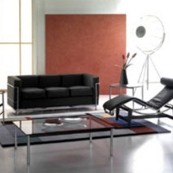 """Italydesign Studios - Le Corbusier Chaise Longue Article 505 - Designed by architect Le Corbusier in 1928, this modern classic chaise is characterized by its clean lines and exposed structural elements. Comfort is assured by allowing the occupant a choice of positions. Chrome plated steel frame structure with padded leather cushion and headrest. Base in matte black steel. Also available in """"pony skin"""" leather with black leather headrest, see Le Corbusier Chaise Longue Article 505P. To purchase additional colors from our upholstery material collections not present in our online selection, simply call 510 - 420 - 0386 to make your order. Please click here for information on the originality of our Modern Classics  Pricing by request. Please call 510-420-0383 or email info@italydesign.com."""