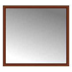 """Posters 2 Prints, LLC - 60"""" x 55"""" Ansley Cherry Custom Framed Mirror - 60"""" x 55"""" Custom Framed Mirror made by Posters 2 Prints. Standard glass with unrivaled selection of crafted mirror frames.  Protected with category II safety backing to keep glass fragments together should the mirror be accidentally broken.  Safe arrival guaranteed.  Made in the United States of America"""