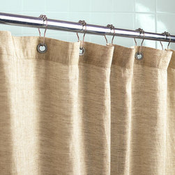 Organic Linen Shower Curtain - I'm not a fan of shower curtains — I prefer glass doors — but when the space or my budget doesn't allow, I opt for pieces that resemble true curtain panels. This linen one is great. It's earthy but has a light, beachy flair to it. It's also pesticide free, making it a greener choice.
