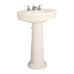 """American Standard - Standard Collection 36"""" Fireclay Pedestal Sink in Linen - American Standard 0283.800.222 Standard Collection 36"""" Fireclay Pedestal Sink in Linen."""