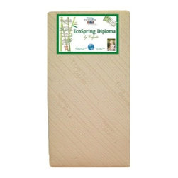 Colgate EcoSpring Diploma Crib Mattress - The Colgate EcoSpring Diploma Crib Mattress - A Colgate Cradletyme Naturals Eco-Friendlier Mattress provides the support infants need with the extra comfort that toddlers enjoy. Plus, it makes for an environmentally friendly option as the foam is made entirely of plant oils. Natural and renewable coir fiber made from coconut shell husks bonded with all-natural latex provides the support infants need. This all-natural crib mattress fits both cribs and toddler beds. Dimensions: 51.6L x 27.3W x 6H inches.Additional Features:GREENGUARD Children & Schools CertifiedCertified organic cotton coverNo metal or plastics involvedNatural and renewable coir fiber support/insulator pad made from coconut shell husks and all-natural latexAbout ColgateColgate is known for producing the highest quality crib mattresses in the country. Having received many industry awards, they're proud to be among the first members of the Juvenile Products Manufacturers Association. Colgate has been manufacturing crib mattresses in Atlanta, Georgia for over 55 years and they're proud to be a US manufacturer located in the heart of the south. Millions of Americans have started their lives sleeping on a Colgate crib mattress.