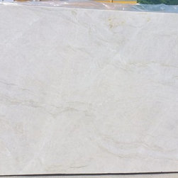 Exotic White Granite Quartzite Slabs from Italy - Perla Venato Quartz slab from Royal Stone & Tile