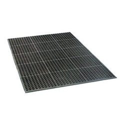 Industrial Rubber Floor Mat 3 ft. x 5 ft. - The Buffalo Tools Industrial Rubber Floor Mat is a half an inch thick rubber mat that's great for workshops, kitchens, or anywhere else where grease and other slippery liquids can be spilled. It's flexible, it's durable, and it's soft enough that it will reduce your own fatigue and soreness if you find yourself standing for long periods of time. Measures 60L x 36W x 1H inches.About Black BullBuffalo Tools is a wholesale company based out of St. Louis, Missour, The Gateway to the West and their top-selling automotive brand is Black Bull. Black Bull is a driving force in automotive products. They're behind tools, equipment, and accessories for everyone from Do It Yourselfers to full-time service professionals. Dollys, jacks, creepers, you name it and there's one out there with the tried and true Black Bull name on it.