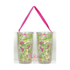 Lilly Pulitzer - Lilly Pulitzer Insulated Tumbler Set, Elephant Ears - Get chilled with our Lilly Pulitzer Insulated Tumbler, where you can keep your drinks cool and its classy better look will make you centre of attraction. This double walled tumbler which holds 16 ounce capacity drink is perfect for poolside refreshment or the everyday bustle with your loved one.
