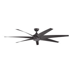 Kichler - Kichler Lehr Distressed Black Ceiling Fan - 310115DBK - This Ceiling Fan is part of the Lehr Collection and has a Distressed Black Finish.