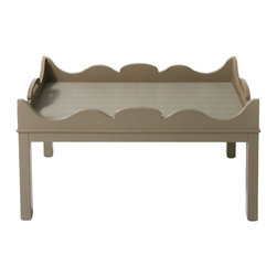 Charleston Coffee Table - Foothills - Glamorous Chippendale style design in oomph's classic foothills.  This table is in excellent condition and a fun and unique way to add oomph to your home!