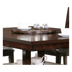 """Steve Silver Furniture - Steve Silver Gibson 22 Inch Lazy Susan in Espresso - A marriage of form and function, the Gibson Dining collection, offers a clean, Contemporary style with extra storage space options. The Gibson lazy Susan is the ideal accessory for the Gibson 2-in-1 Dining Table, with a spinning 22"""" round surface that keeps everything conveniently within reach."""