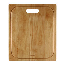 "Houzer - Houzer CB-4100 Cutting Board 14.75"" x 17.75"" x 0.75""T - Houzer hardwood kitchen accessory Cutting Board FOR CTR-1700, CTG-3200, CTO-3370, NOD-420,0 CTS-2300, CTD-3350, NOS-4100, NOG-4150"