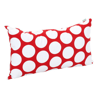 Majestic Home - Indoor Red Hot Large Polka Dot Small Pillow - Put some polka in your pillow party. You'll shake up solids and stripes with this bold dotted pattern, available in your choice of hot shades and classic black and white.