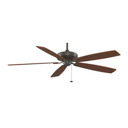 Fanimation - Fanimation Edgewood 72 Supreme Ceiling Fan in Oil-Rubbed Bronze - Fanimation Edgewood 72 Supreme Model FA-TF721OB in Oil-Rubbed Bronze with Reversible Cherry/Walnut Finished Blades.