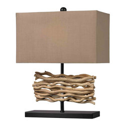 Dimond Lighting - Dimond Lighting HGTV157 HGTV Home Drift Wood Table Lamp - Dimond Lighting HGTV157 HGTV Home Drift Wood Table Lamp