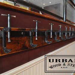 Industrial C-Clamp Coat Rack - Custom Coat Rack -