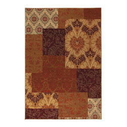 Karastan - Contemporary Carmel 8'x10' Rectangle Multi Color-Ginger Red Area Rug - The Carmel area rug Collection offers an affordable assortment of Contemporary stylings. Carmel features a blend of natural Multi Color-Teal color. Machine Made of Nylon the Carmel Collection is an intriguing compliment to any decor.