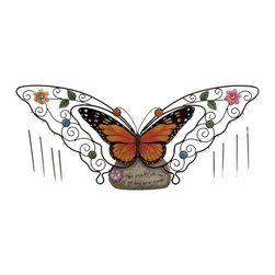 Garden Butterfly Wind Chime - This magnificent butterfly showpiece will decorate your house with a unique style. This piece of art is quite aesthetic with simple and striking attributes which will surely catch attention of any visitor to your house. The intricate pattern and the beautiful colors make it perfect for modern homes and minimal settings. It is made with fiber material which is known for its durable properties and robustness. The showpiece offers versatility and can be incorporated anywhere in your home. Easy to maintain and clean, you will definitely not regret your choice of this butterfly showpiece.. It comes with a following dimension