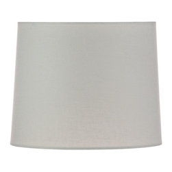 """Lamps Plus - Traditional Off-White Linen Hardback Drum Shade 15x18x12 (Spider) - Drum lamp shade. Linen material. Off-white color. Hardback shade. Unlined. Polished brass spider fitter. 15"""" across the top. 18"""" across the bottom. 12"""" on the slant.       Drum lamp shade.  Linen material.  Off-white color.  Hardback shade.  Unlined.  Polished brass spider fitter.  15"""" across the top.  18"""" across the bottom.  12"""" on the slant."""