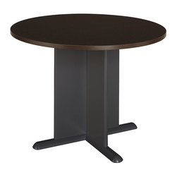 BBF - BBF Round 3.4 Wood Conference Table in Mocha Cherry - BBF - Conference Tables - TB12942A - Sit in the winner's circle with the BBF Round Conference Table. Featuring sturdy construction thick base and lustrous finish this comfortable yet powerful circular shape table is an inviting addition to any workplace environment sure to blend with your decor.