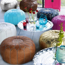 mediterranean ottomans and cubes by Graham and Green