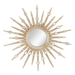 Paragon Decor - Silver Sunburst - Multiple small mirrors enhance the rays extending from the center. (Mirror size 12h x 12w)