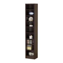 """Coaster - Bookcase (Cappuccino) By Coaster - Add functional style to your office or living room with this bookcase in a cappuccino finish. Dimensions:13"""" x 9 1/2"""" x 70 3/4"""" Some assembly may be required. Please see product details."""