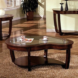 Crystal Falls - This table defies convention by forsaking the rectangle, square and circle in its unique design.