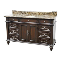 "EuroLux Home - New 60"" Single Sink Vanity Brown/Beige/Tan - Product Details"