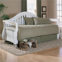 Fashion Bed Fraser Twin Size Wood Daybed in Frost