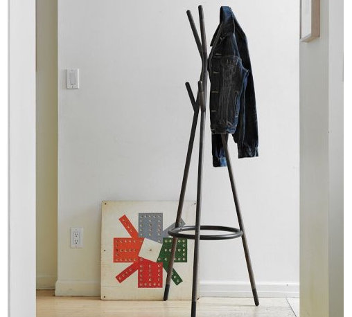 Metal Tipped Coat Rack - Hang up your lab coat at the end of the day on this solid wood coat rack from West Elm. Its simple form is a nice contrast to all that scientific clutter in your workplace.