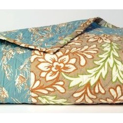 Chantelle Quilt - I love that the print shown here on the Chantelle quilt was inspired by vintage prints and fabrics.  The soft colors of this quilt add to its beauty. The Chantelle quilt is also reversible adding to the value this quilt offers.