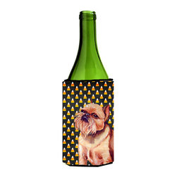 Caroline's Treasures - Brussels Griffon Halloween Portrait Wine Bottle Koozie Hugger - Brussels Griffon Candy Corn Halloween Portrait Wine Bottle Koozie Hugger LH9055LITERK Fits 750 ml. wine or other beverage bottles. Fits 24 oz. cans or pint bottles. Great collapsible koozie for large cans of beer, Energy Drinks or large Iced Tea beverages. Great to keep track of your beverage and add a bit of flair to a gathering. Wash the hugger in your washing machine. Design will not come off.