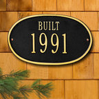"Oval ""Built"" Plaque - Simple and prestigious, this plaque is a novel way to celebrate a new home or business or to indicate historic status. A classy addition to any exterior, high quality aluminum and weather resistant paint make this a long lasting, worthy investment."