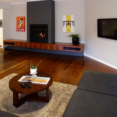 Modern Family Room by Kitchens By Design Australia
