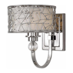 Brandon 1-Light Nickel-Plated Wall Sconce