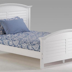 Night & Day Furniture - Sandpiper Twin Platform Bed in White (Full) - Choose Bed Size: FullBed includes headboard, footboard, rail and slat. 100% Malaysian Rubberwood construction. Warranty: 10 years. White finishBed dimensions:. Full Headboard: 46.88 in. W x 60.88 in. L (51 lbs.). Full Footboard: 29.38 in. W x 60.88 in. L (40 lbs.). Queen Headboard: 46.88 in. W x 66.88 in. L (55 lbs.). Queen Footboard: 29.38 in. W x 66.88 in. L (41.8 lbs.)The Sandpiper Bed, with its handsome arched crown and louvered panels is a delight. Dress it up in light Summer colors or drape it in bold primaries. Either way it's a winner.The Sandpiper Bed gives you all the comfort, style and quality you expect from a Night and Day Furniture product. Enhance the grouping by adding to it from our range of case-goods and storage accessories.